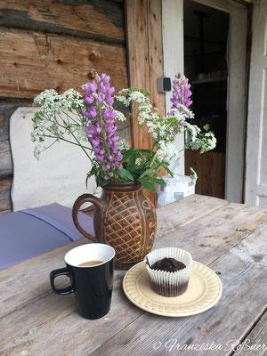 Kaffee und Kuchen auf der Alpaka-Ranch