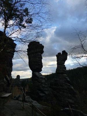 Die Herkulessäulen im Bielatal sind eines der Wahrzeichen der Sächsischen Schweiz