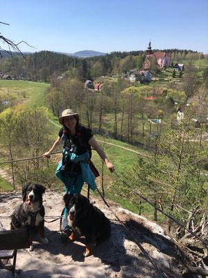 Blick auf Srbská Kamenice