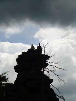 Kletterer im Bielatal