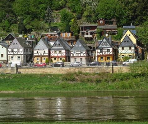 Die berühmten Umgebindehäuser in Postelwitz bei Bad Schandau