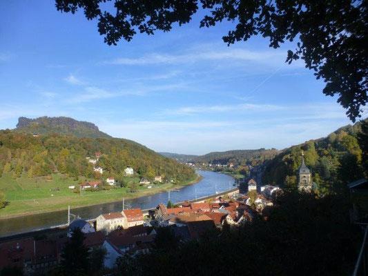 Blick auf das Elbtal bei Königstein