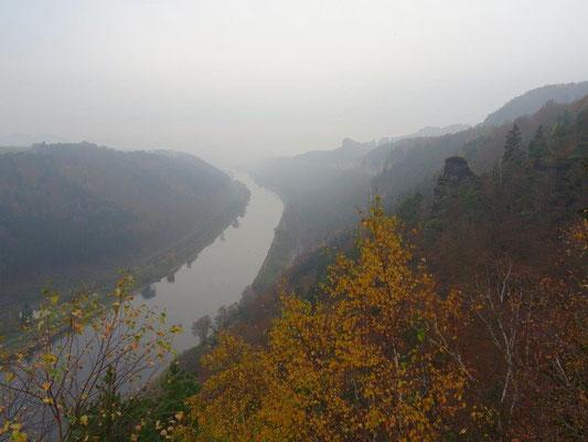 Blick von der kleinen Bastei Richtung Bad Schandau