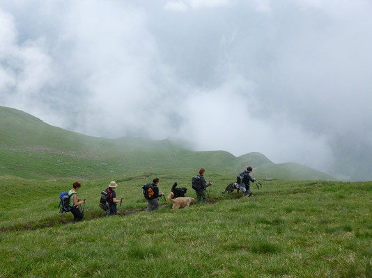 Abstieg von der Sajathütte