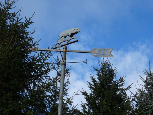 Wetterfahne auf dem Bärenstein