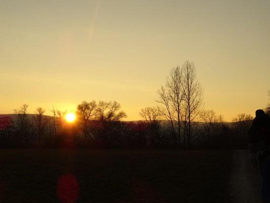 Sonnenuntergang an der Werra