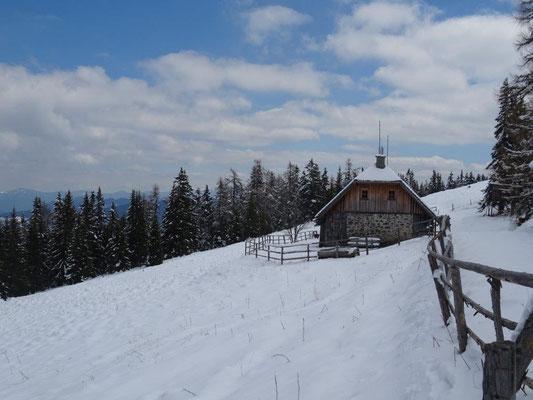 Die Käsereihütte im Winterschlaf