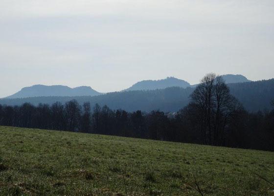 Tafelberge gehören zu den Wahrzeichen der Sächsischen Schweiz
