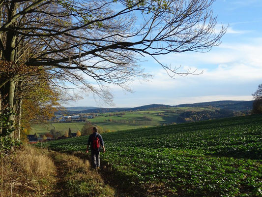 Blick über Wünschendorf nach Pockau