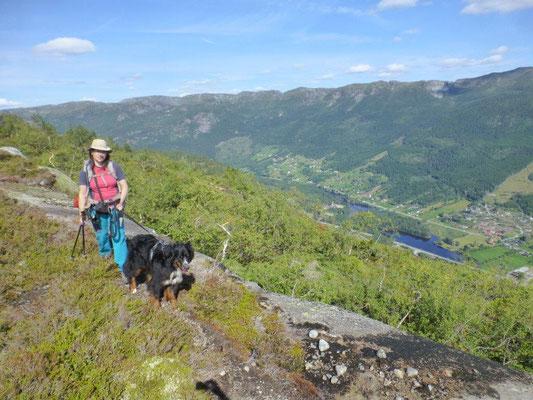 Aufstieg zum Nomelandsfjellet