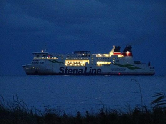 Die Stena-Line fährt in den Hafen von Trelleborg ein