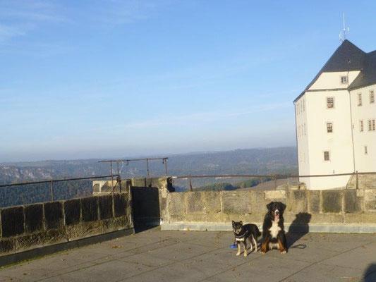 Vreni und Maiko auf der Festung Königstein