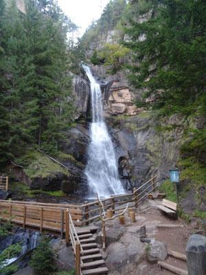Der obere Wasserfall in Barbian