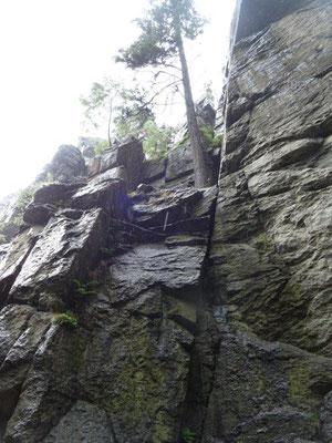 Der Nonnenfelsen im Schwarzwassertal