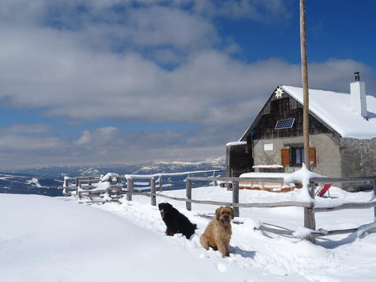 An der Bernhard-Fest-Hütte kurz vorm Gipfel