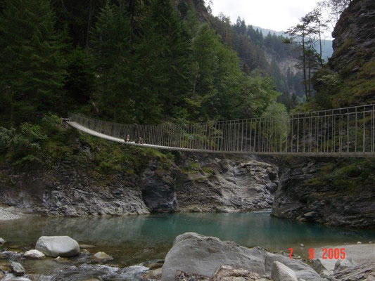 Rheintal am Beginn der Viamala-Schlucht