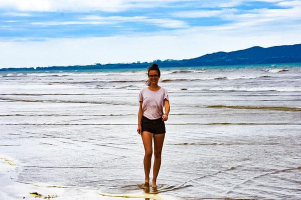 Vanessa am Strand