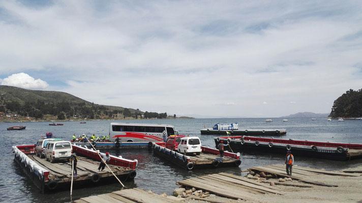 Unsere Fahrt nach La Paz; wir mussten Überschiffen.