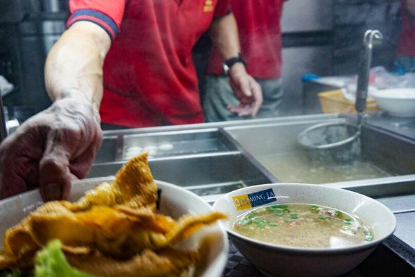 Chinatown, unsere Essen wird zubereitet