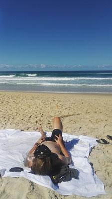 Entspannen am Strand von Noosa