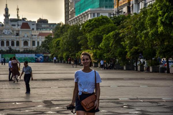 Auf dem Nguyen Hue Boulevard