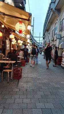 Zurück in Tokyo geht es in das Viertel Ueno. Hier soll man sich für 1000 Yen betrinken können (laut Vanessas Freundin) - für trinkfeste, große Deutsche ist das wohl eher unrealistisch