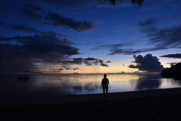 Sonnenuntergang am White Sandy Beach