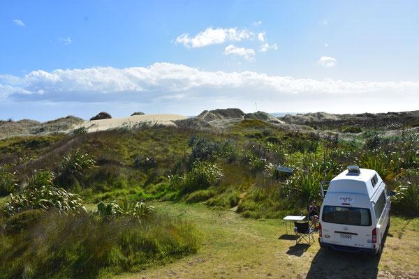 90 Mile Beach un unser Camper