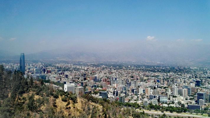 Santiago de Chile von oben