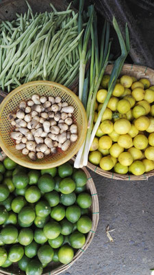 Limetten/ Kumquats und Frühlingszwiebeln sind sehr wichtig in der vietnamnesischen Küche