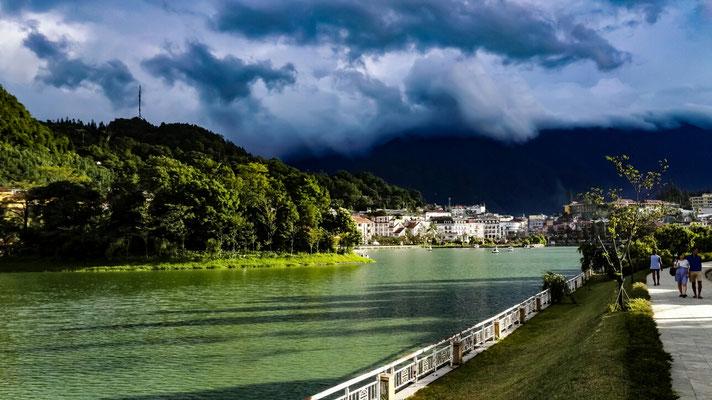 See in Sa Pas Stadtzentrum. Alles sehr Touri, trotzdem gefällt es uns hier.