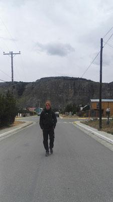 Die ersten Meter durch El Chalten zur ersten Wanderung...