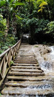 Der Weg auf den Wasserfall