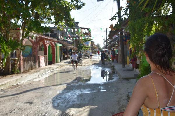 Die Straßen auf Isla Holbox