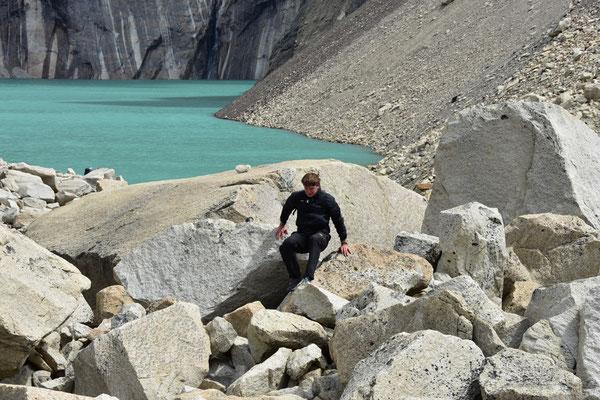 Kletterpartie vor den Torres