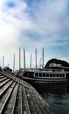 Anleger auf Tittop Island in der Ha Long Bucht