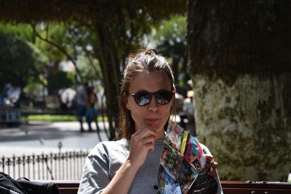 Eis essen oder Stadtkarte?