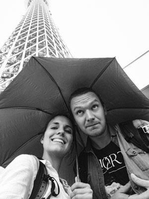 Regenwetter in Tokyo