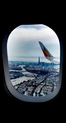 Im Anflug auf Ho Chi Minh