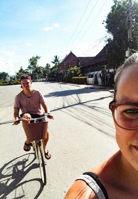 Mein Fahrrad war auf Laotisch eingestellt
