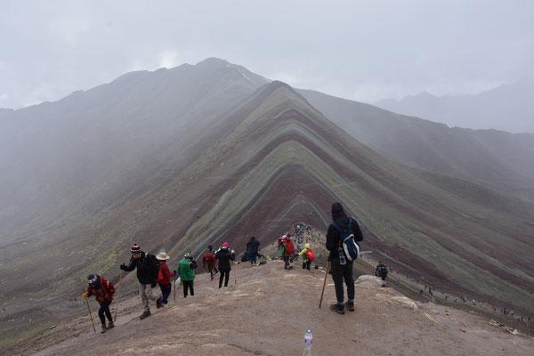 Rainbow Mountain im Graupel