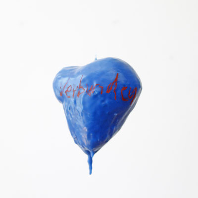 Blue heart - object - art by Eva Kunze
