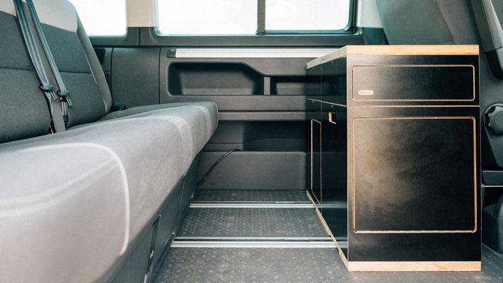 Innenraumküche im VW California Beach T5 und T6