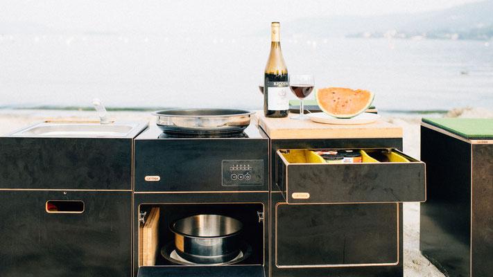 Küche am Strand