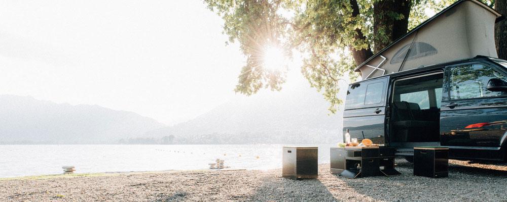 Schöner Platz am Camping Lido Mappo (Schweiz)