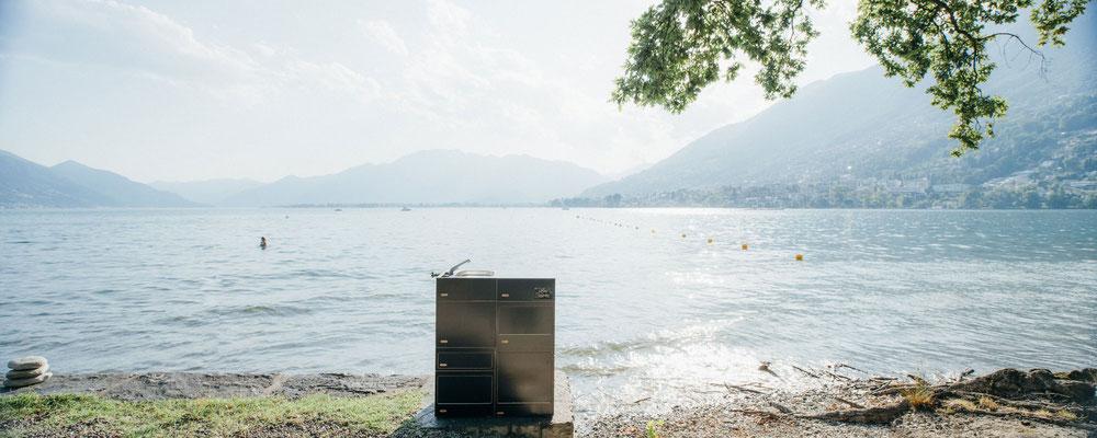 Stehküche mit schönen Blick auf dem Lago Maggiore