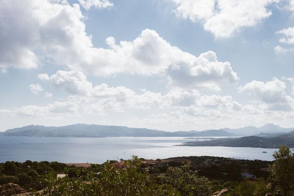 Aussicht auf die Costa Smeralda vom Capo d'orso aus