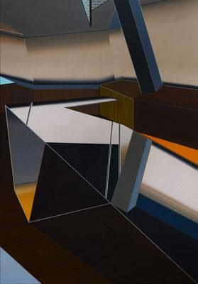 TEFPUNKT / acrylic on canvas / 100 x 70 cm