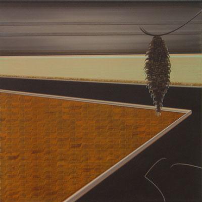 DIE IM DUNKLEN SIEHT MAN NICHT 5 / acrylic on canvas / 50 x 50 cm
