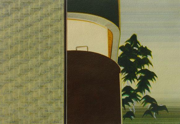 TEL AVIV / acrylic on paper / 13,5 x 20 cm